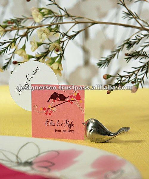 Bird Wedding Favor Place Card Holder