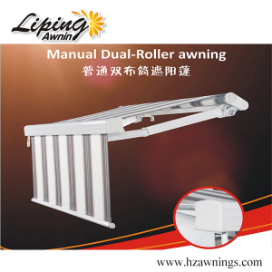 Economical Manual Dual-Roller Retractable Awning