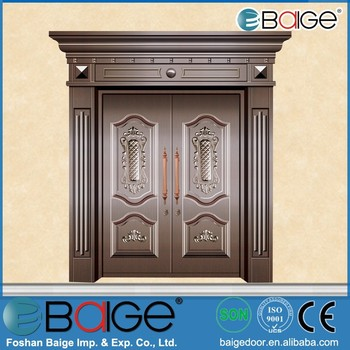 Bg c9028 indian main door designs main entrance copper for Main entrance door design india