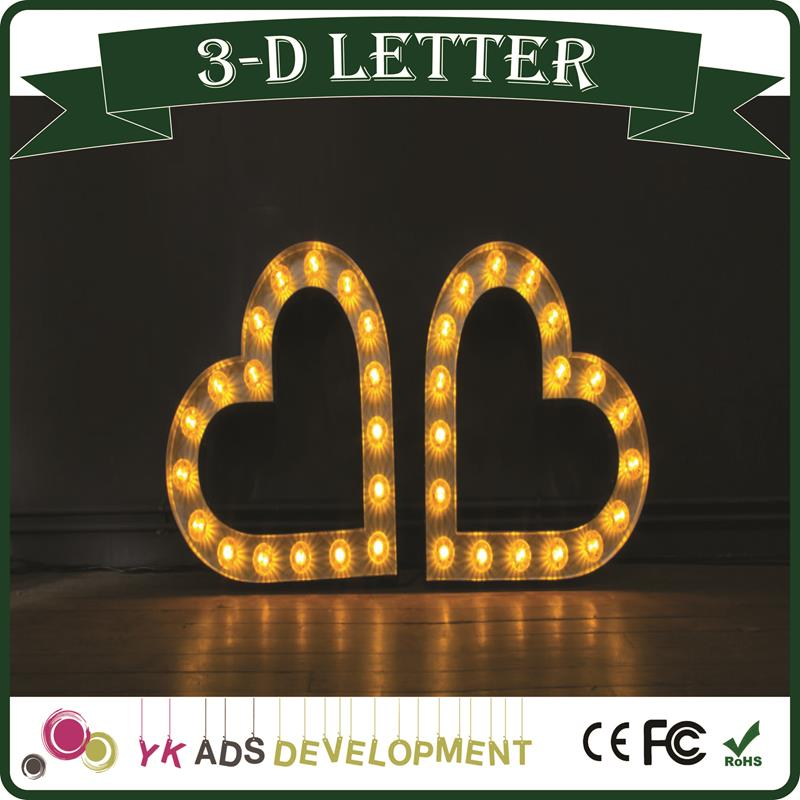 Bold sign letters Customized Led Sign LED Pixel Bulb Storefront Sign