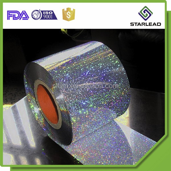 150mic thick polyester metalized holographic film sheet