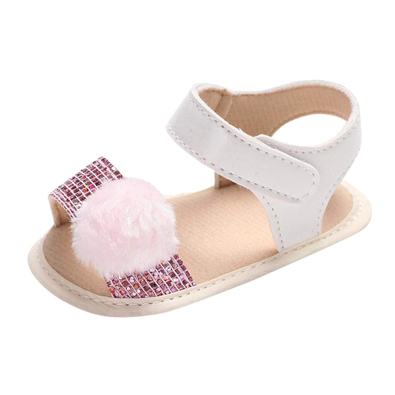 5864e6312f4 Get Quotations · WOCACHI Baby Girls Shoes Infant Baby Girls Ball Shoes Soft  Sequins Crib Anti-Slip Shoes