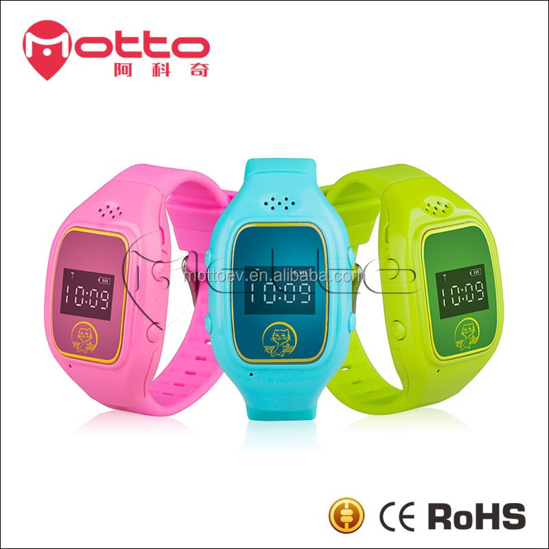 3 Colors Junior Students GPS Tracking mobile watch phones