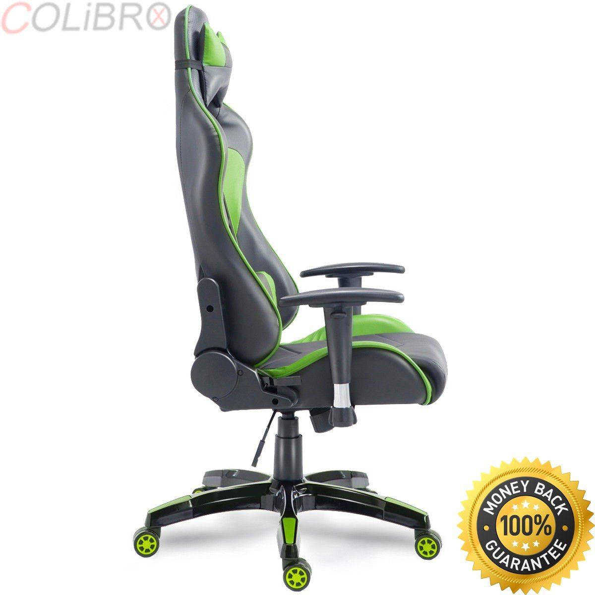 COLIBROX--High Back Executive Racing Reclining Gaming Chair Swivel PU Leather Office Chair. high back racing style gaming chair reclining office executive task computer. reclining gaming chair.
