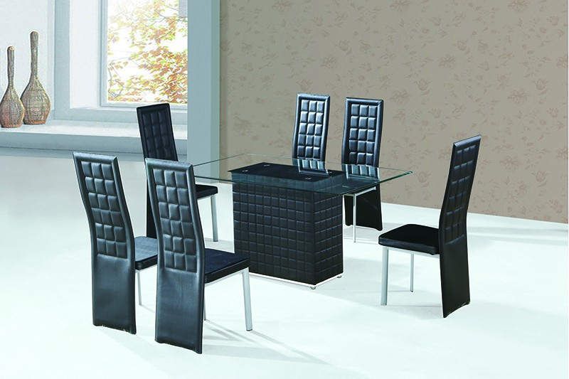 China Temporary Dining Room Furniture Mirror Glass Dining