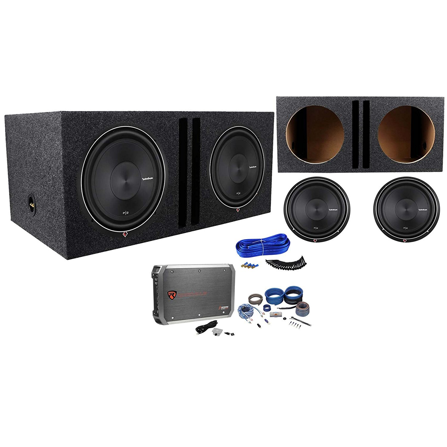 Wiring Kits For Subs Diagrams Street Rod Buy 2 Rockford Fosgate P2d4 12 Vented Enclosure 750w Hot
