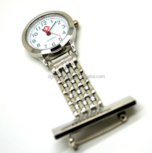 Wholesale Cheap Alloy Metal Silver Clip Nurse Watch Fob Watch Doctor Watches