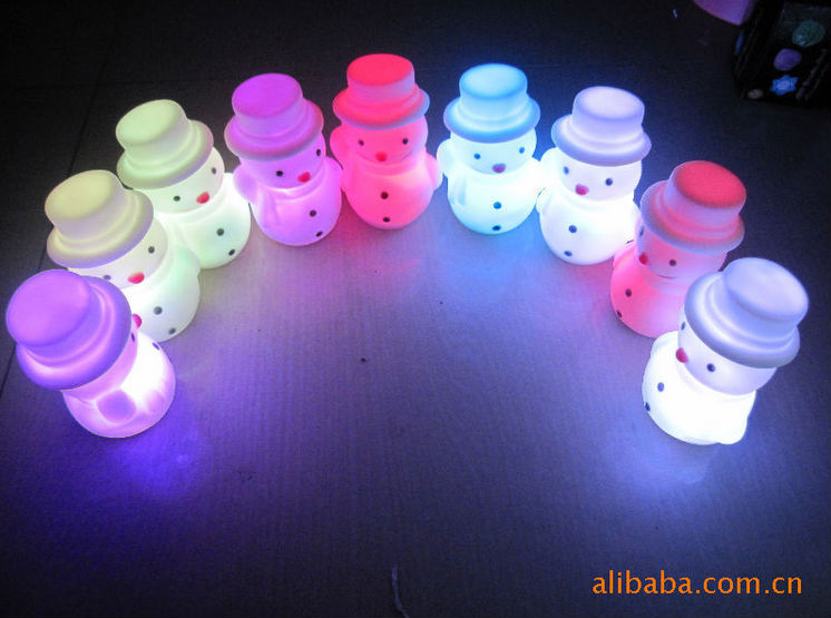 Cute Snowman LED Nightlight, Universal Christmas Gifts