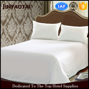 Egyptian Cotton Luxury 400t 5 Star Hotel Used Customized White Bed Sheets