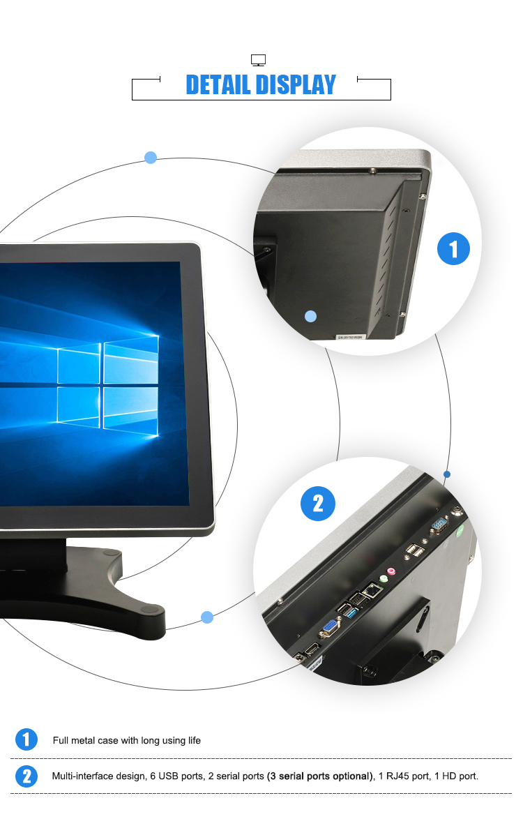 Desktop computer all in one pc pos system