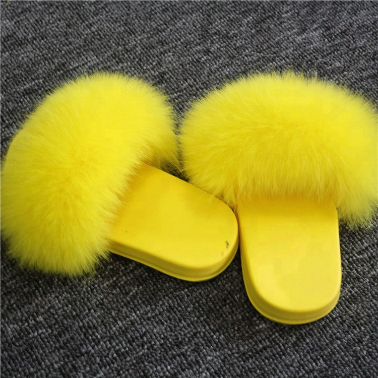 Baby Shoes 2019 Sweet Yellow Fur Sandals Lovely Kids Shoes Fox Fur Furry  Children Slippers - Buy Fox Fur Furry Children Slippers,Lovely Children
