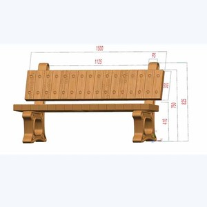 New product precast plastic injection concrete cement stone bench moulds for outdoor garden and yard