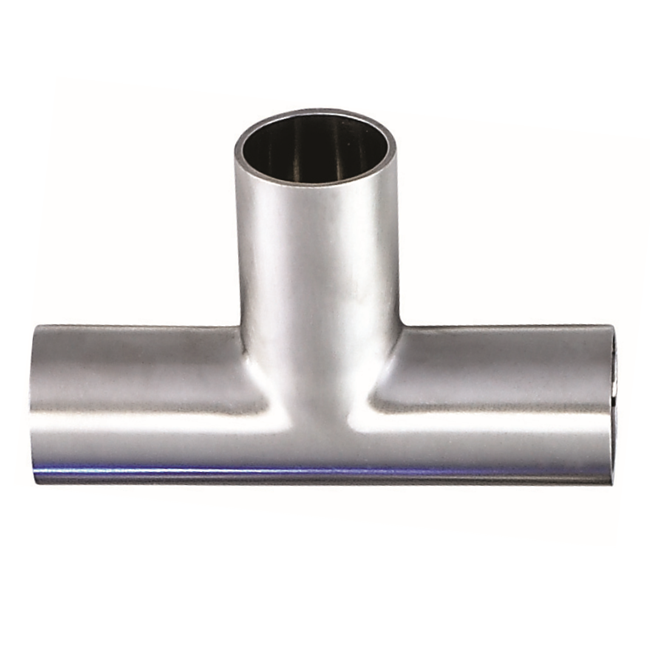 Stainless steel strong pipe fitting Welding long pipe tee for Pipeline connection