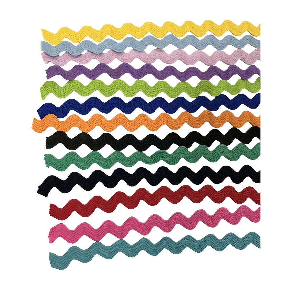 30 Continuous Yards Many Colors Available! Navy 5//8 Cotton RIC Rac Zig Zag Trim