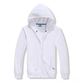 Factory Directly Sale Custom Logo Zip Up Thin Cheap Hooded Hoodie