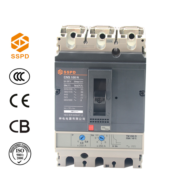 MCCB NS 250N 3P Moulded Case Circuit Breaker NS 250A MCCB
