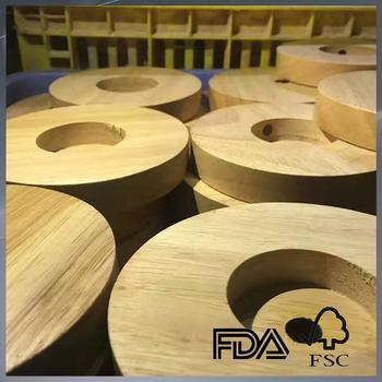 Custom Natural Wooden Round Lamp Base