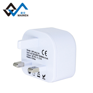 Mini gift accessories hot sale all in one usb 5v 2.1a fast mobile 3 pin uk charger