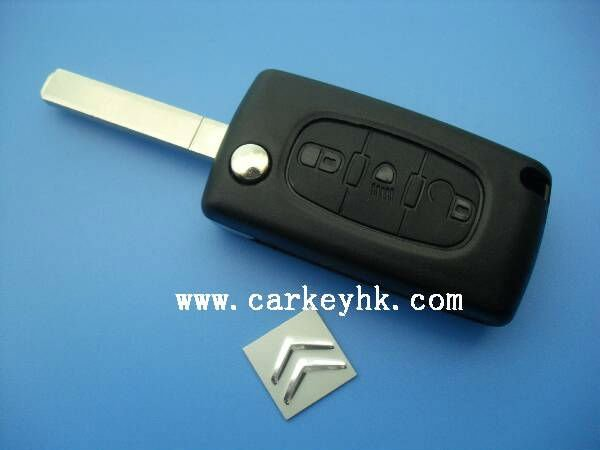 Folding Remote Key Case FOB for CITROEN C2 C3 C4 C5 C6 Light Symbol Groove Key