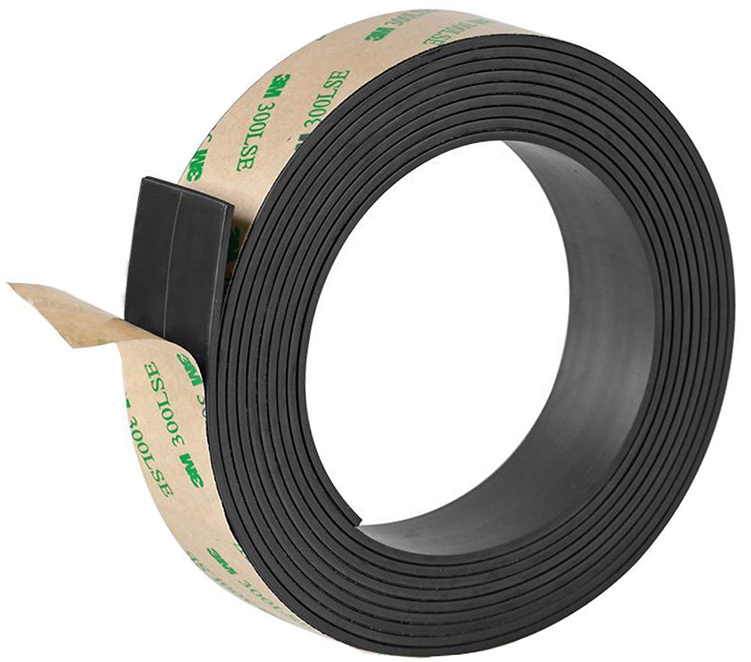 46e49a1fcd8 Get Quotations · Ilyever 1 inch x 10 Feet Strong Magnetic Tape Anisotropic Magnet  Strip with Premium Sticky Adhesive