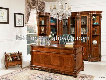 Mobili Ufficio Legno Massello : Americano antico legno massello sala studio scrivania set in
