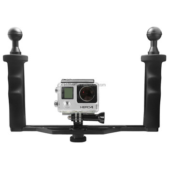 SHOOT Universal Aluminum Handheld Stabilizer Grip for GoPro 4 3+ SJCAM SJ4000 SJ5000 SJ8000 h9 Dome Port Cameras
