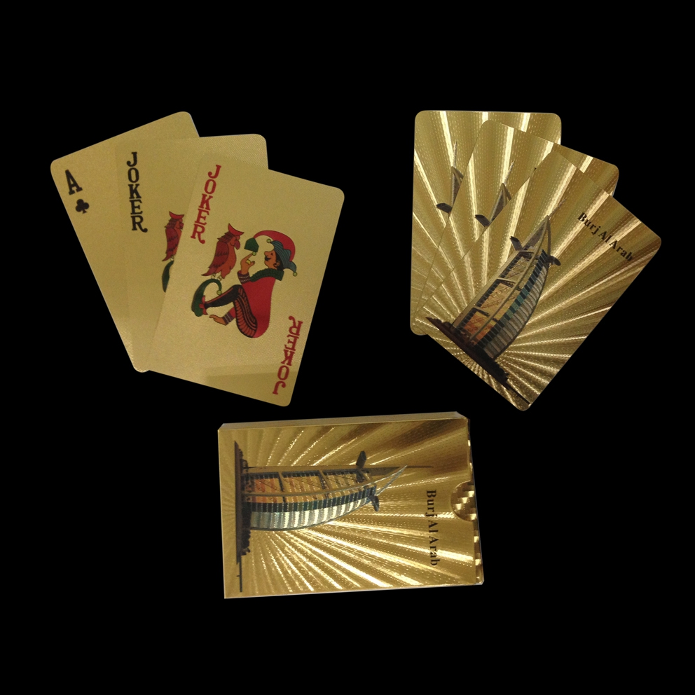Gold foil strong mat plastic playing card