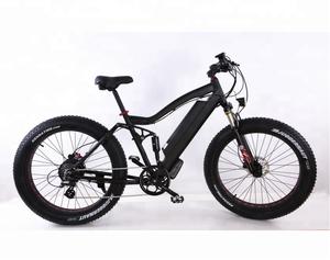 Electric Fat Bike >> Fat Tire Full Suspension Electric Mountain Bike