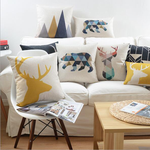 Wholesale Hot selling printing deer sofa decoration arabic seating cushion