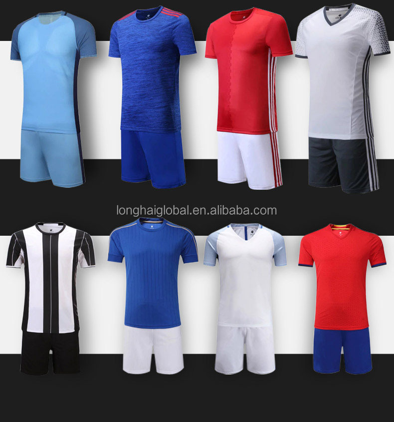 19 Colors Football Jersey Set Custom Wholesale Cheap Soccer Jerseys for Adults and Kids