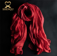 Elegant shape various women european style scarf gradient color polyester scarf