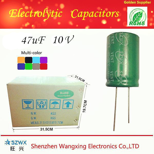 SZWX 2015 New products 47uf 10v capacitor codes Hot selling