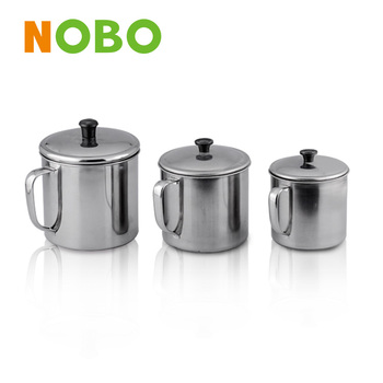 Nobo factory cheap custom mugs stainless steel with steel lid