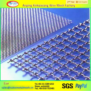 304 316 Stainless Steel Crimped Wire Mesh sheet made in China