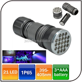 High Power 395 Uv Flashlight Ultra Violet Blacklight 21led 395nm Camping  Outdoor Uv Flashlight - Buy Uv Flashlight,395nm Uv Flashlight,21 Led Uv
