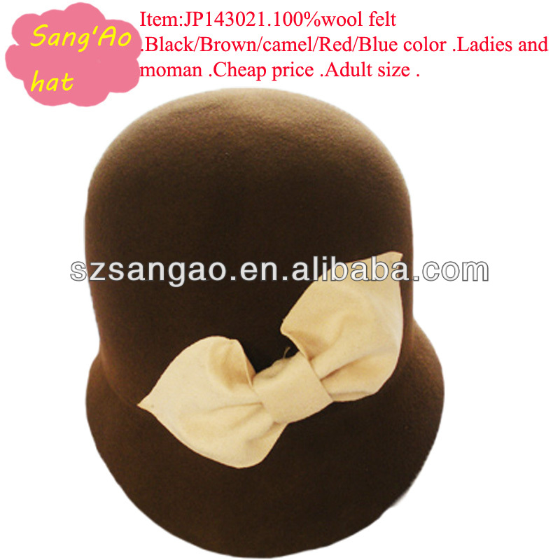 wholesale new fedora bucket cap 100%wool in fishing