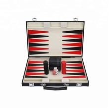 Vervaardiging aangepaste deluxe backgammon checkers <span class=keywords><strong>schaakspel</strong></span> set Smart Tactiek Premium Backgammon Set antieke Board Game Set