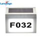 Cixi new promotion house Street Address Number Light XLTD-910 Solar Power Stainless Steel LED Doorplate Light