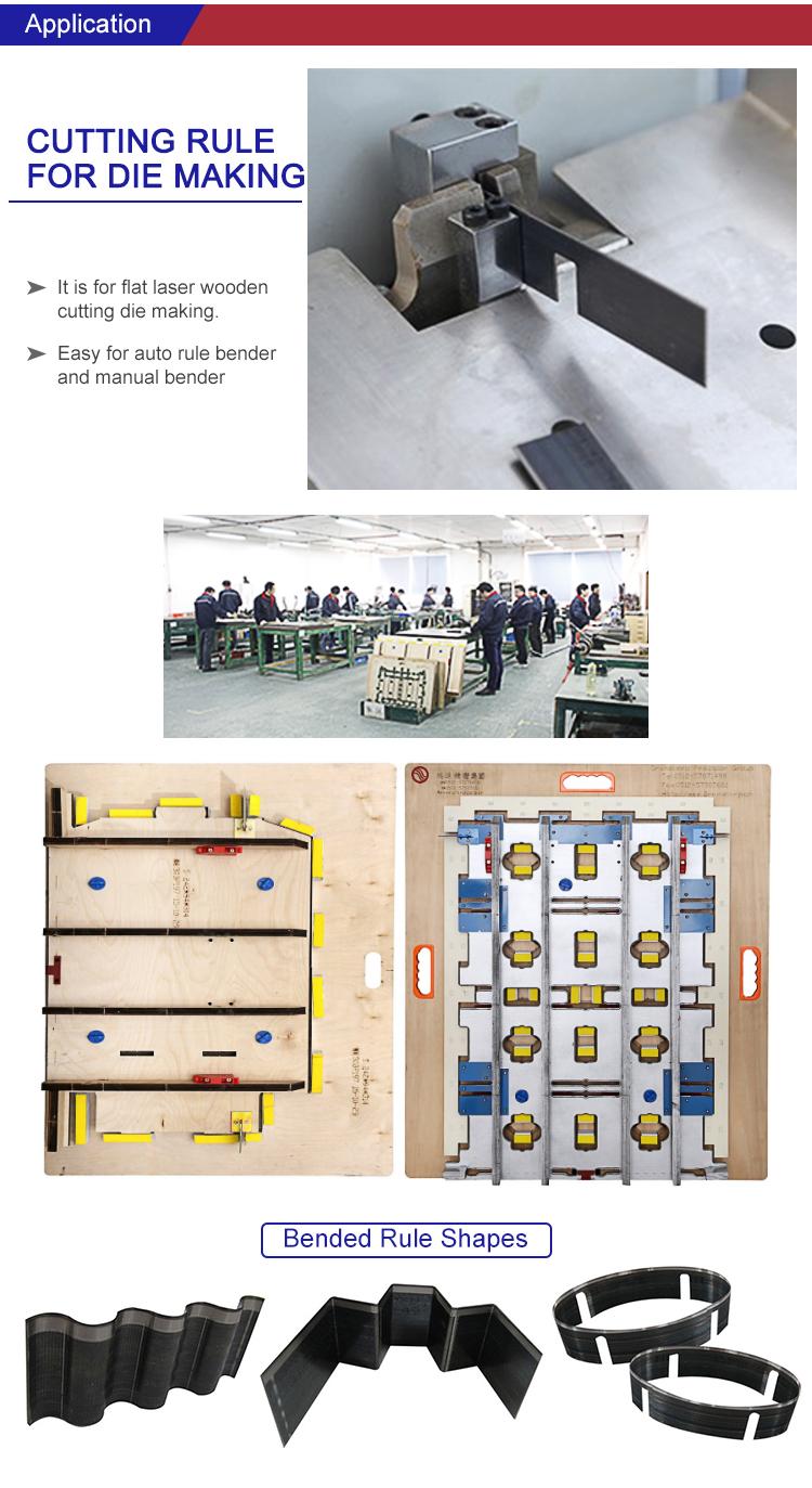 A regra de aço de perfuração da lâmina de corte de 2pt 3pt morre as máquinas para morrem o fabricante CFDB