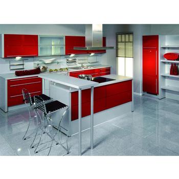 Wholesale Aluminum Steel Glass Cabinet Doors Kitchen Cabinet Design
