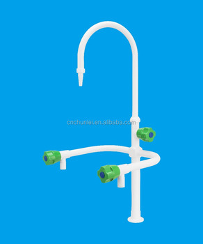 Three Way Laboratory Water Tap Faucet With Pp Handle And Bubble