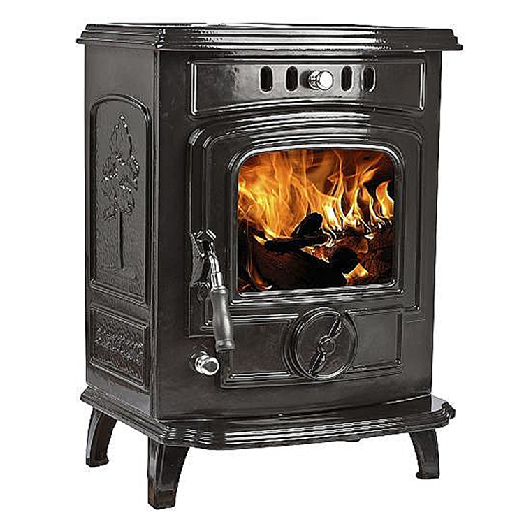 Small Cast Iron Room Wood Fireplace Black & Cream Enamel Cheap Wood Burning Stoves For Sale