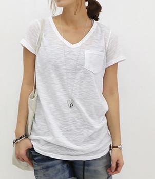 Bulk custom women wholesale new fashion burnt out plain for Bulk pocket t shirts