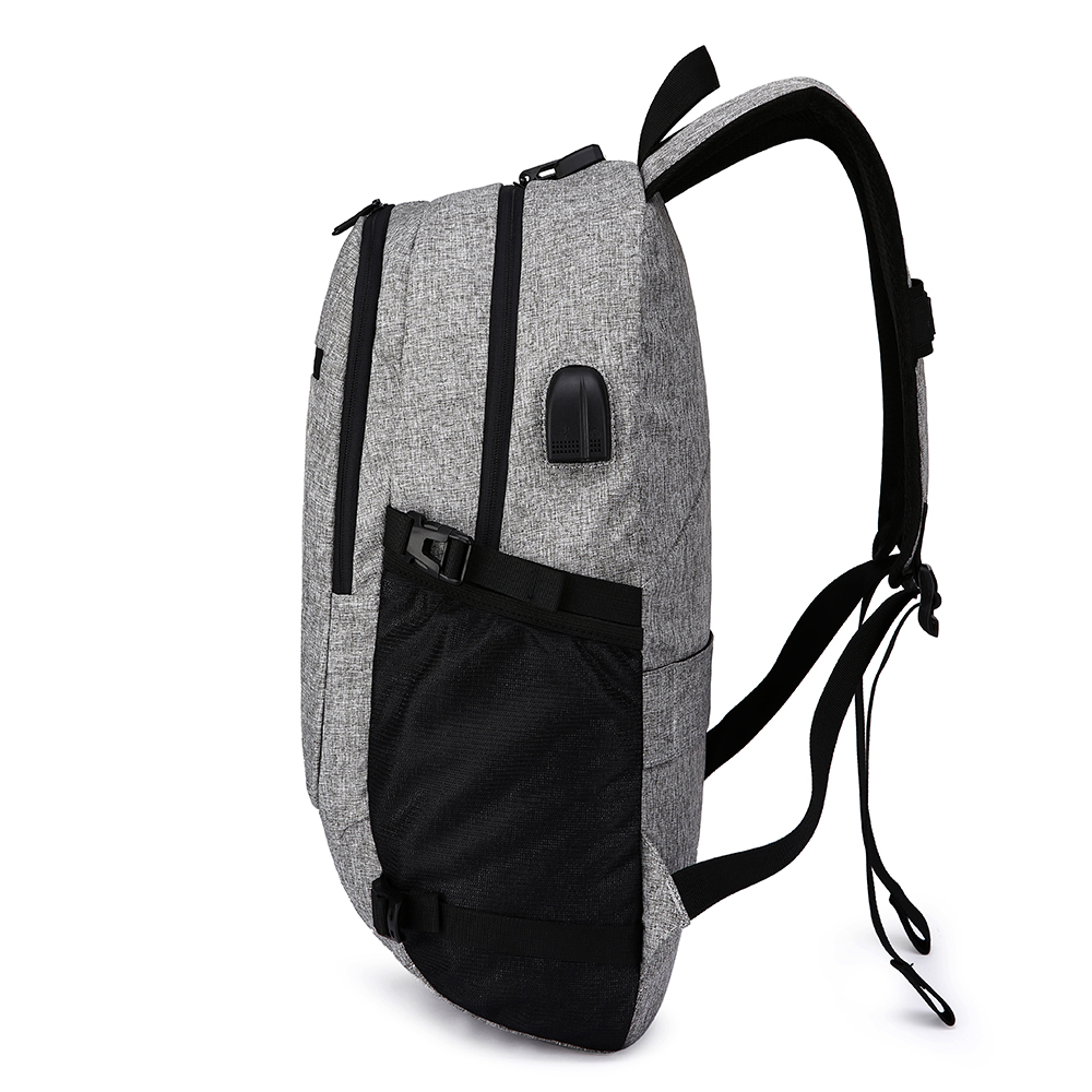 OEM school waterproof anti theft backpack with usb port for male
