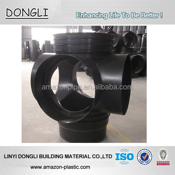 Supply HDPE inspection manhole PE corrugated drainage pipe connection fitting