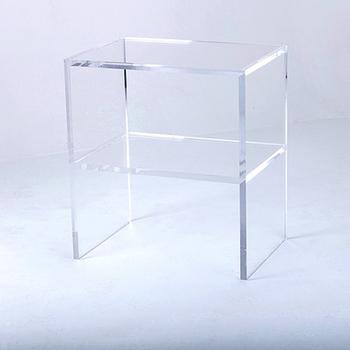 Pleasant 2 Layer Rectangular Clear Acrylic Side Table Plexiglass Coffee Table Buy Acrylic Coffee Table Plexiglass Side Table Clear Acrylic Coffee Table Machost Co Dining Chair Design Ideas Machostcouk