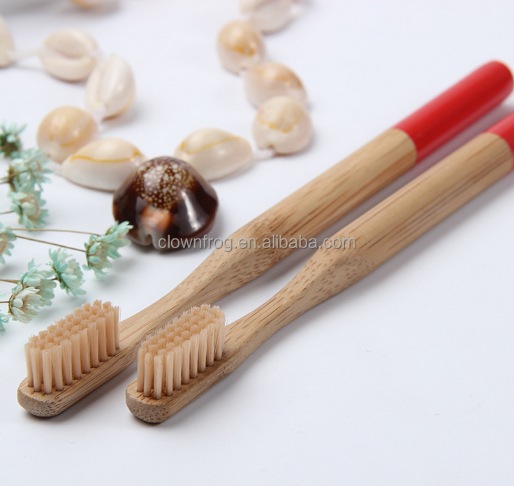 natural <strong>bamboo</strong> tooth brush with colorful bristle