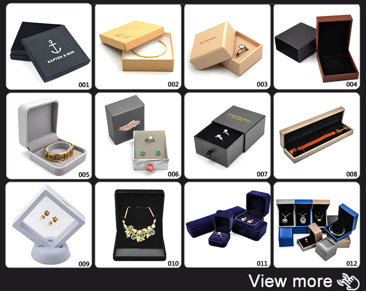 Custom China Fashion Design Jewelry Velvet Box Packaging Wholesale
