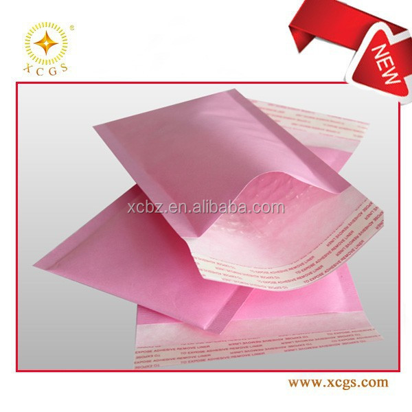 Cute Pink Colour Bubble Mailer Envelope OemBuy Pink Colour