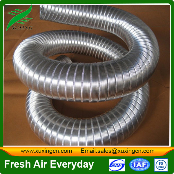 high quality semi-rigid insulated flexible aluminum air conditioning air duct parts of ventilation system